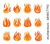 fire icons. fire flame... | Shutterstock . vector #684817792