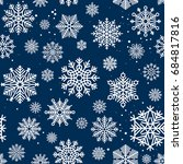 snowflakes seamless pattern.... | Shutterstock . vector #684817816
