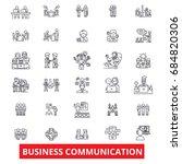 business communication ... | Shutterstock .eps vector #684820306