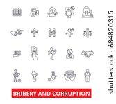 bribery  corruption  anti... | Shutterstock .eps vector #684820315