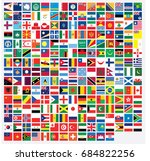 square shaped illustrated flags ... | Shutterstock . vector #684822256