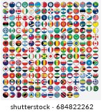 3d round shaped illustrated... | Shutterstock . vector #684822262