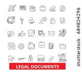 legal documents  attorney ... | Shutterstock .eps vector #684824296