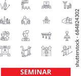 education seminar  conference ... | Shutterstock .eps vector #684824302