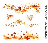 autumn leaves borders. nature... | Shutterstock .eps vector #684827182