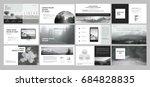 original presentation templates ... | Shutterstock .eps vector #684828835
