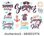 summer typography lettering... | Shutterstock . vector #684831976