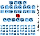 cube alphabet   numbers  these...   Shutterstock .eps vector #68483212