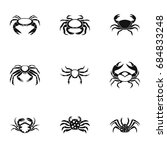 crab icons set  simple style | Shutterstock .eps vector #684833248