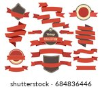 coloring banners ribbons and... | Shutterstock . vector #684836446