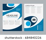 modern business two sided flyer ... | Shutterstock .eps vector #684840226