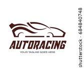 automotive logo template. car... | Shutterstock .eps vector #684840748