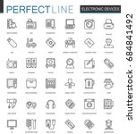 electronic device thin line web ... | Shutterstock .eps vector #684841492