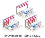 trailer online vector... | Shutterstock .eps vector #684845332
