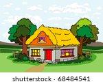 village house | Shutterstock .eps vector #68484541
