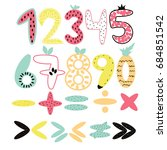 Set Of Funny Colorful Numbers...