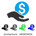 money donation flat vector... | Shutterstock .eps vector #684854026
