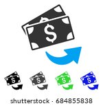 send money flat vector icon.... | Shutterstock .eps vector #684855838