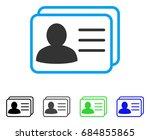 account cards flat vector... | Shutterstock .eps vector #684855865