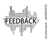 feedback tag cloud  vector | Shutterstock .eps vector #684855952