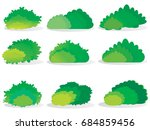 green bushes natural   vector... | Shutterstock .eps vector #684859456