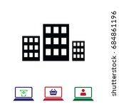 city icon stock vector... | Shutterstock .eps vector #684861196