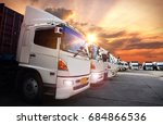 container truck in ship port ... | Shutterstock . vector #684866536