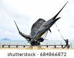 Sculpture Of Sail Fish And...
