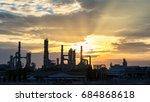 gas turbine electrical power... | Shutterstock . vector #684868618
