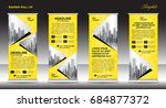 roll up banner stand template... | Shutterstock .eps vector #684877372