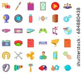 game application icons set ... | Shutterstock .eps vector #684880438