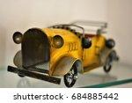 Small photo of Nice yellow iron jalopy