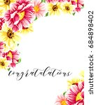 romantic invitation. wedding ... | Shutterstock .eps vector #684898402