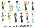 profession set for women  ... | Shutterstock .eps vector #684902026