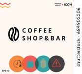 coffee seed   logo | Shutterstock .eps vector #684902206