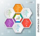 vector abstract 3d paper... | Shutterstock .eps vector #684903502