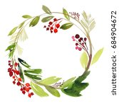 Christmas Wreath With Berries...