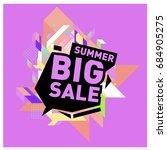 summer sale memphis style web... | Shutterstock .eps vector #684905275