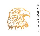 gold eagle head illustration | Shutterstock .eps vector #684915106