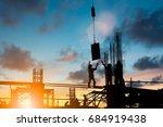 silhouette construction... | Shutterstock . vector #684919438