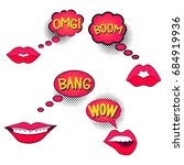 comic speech bubble with... | Shutterstock . vector #684919936
