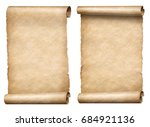 old paper scrolls or parchments ... | Shutterstock . vector #684921136