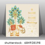 wedding invitation card... | Shutterstock .eps vector #684928198