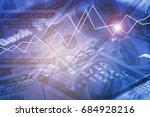 double exposure business... | Shutterstock . vector #684928216