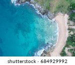 sea aerial view top view... | Shutterstock . vector #684929992