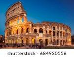 colosseum at sunset  rome. rome ... | Shutterstock . vector #684930556