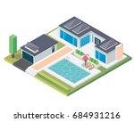 modern luxury isometric green...   Shutterstock .eps vector #684931216