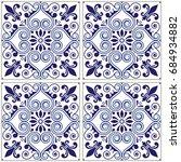 portuguese tiles pattern  ... | Shutterstock .eps vector #684934882