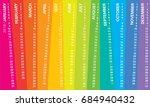 creative wall calendar 2018... | Shutterstock .eps vector #684940432
