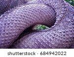 textured scales of serpent... | Shutterstock . vector #684942022